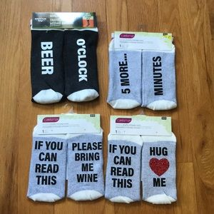 Set of 4 novelty message socks